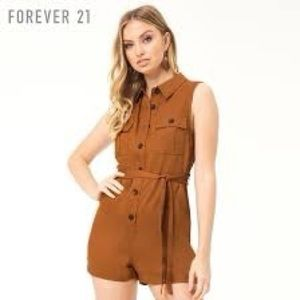 Forever 21 Buttoned Romper